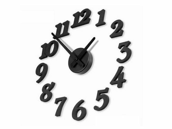 約翰家庭百貨》【TA070】創意DIY牆面自黏數字掛鐘 時尚藝術鐘錶 數字時鐘 壁鐘 兩色可選