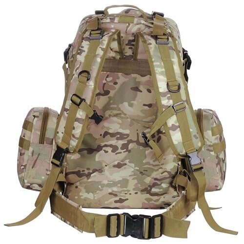 Outdoor Sport Hiking Camping Backpack Large 600D Oxford Trekking Bag W/ Adjustable Chest Belt CP Camouflage 3