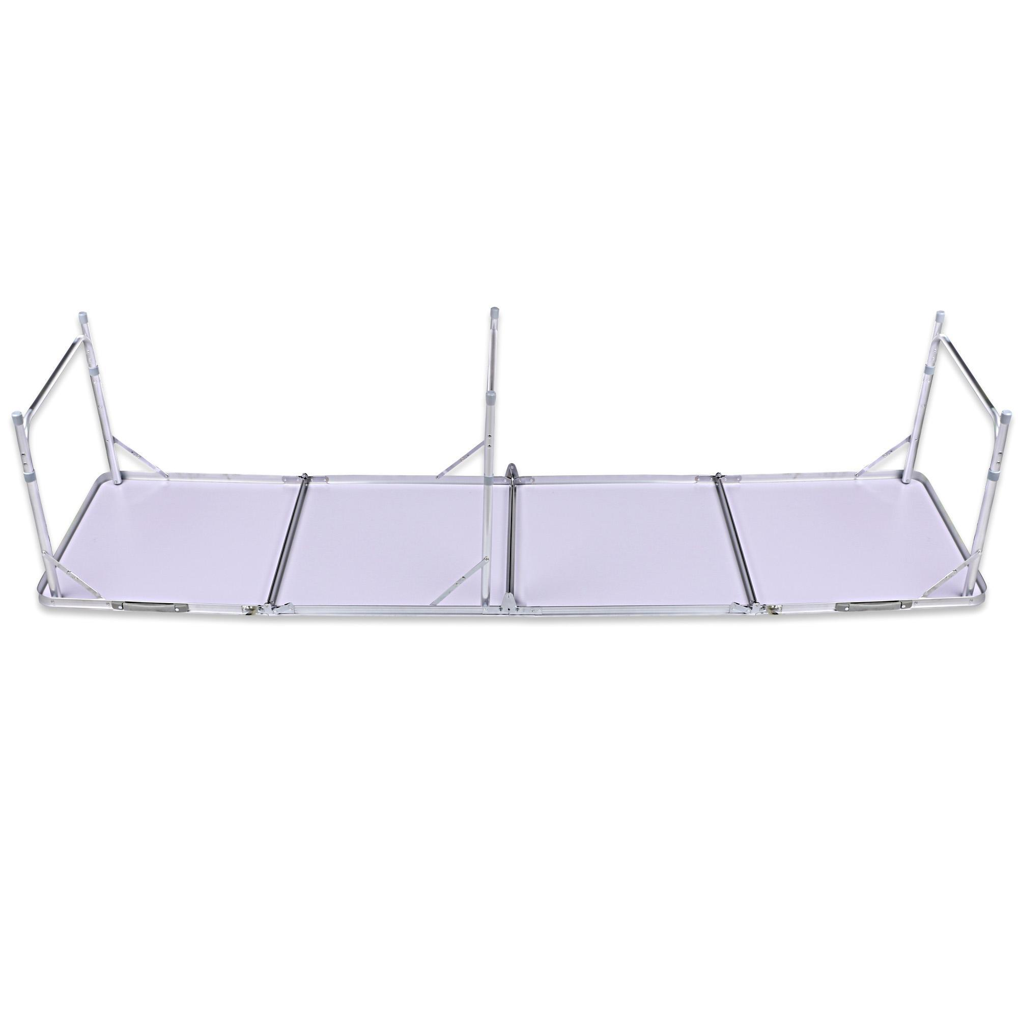 Aluminum 4 In 1 Folding Portable Extension Square Picnic Camping Table Carrying Handle 2