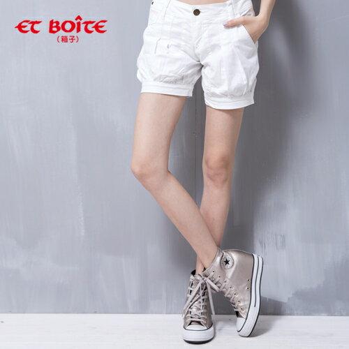 ET BOiTE 箱子  Amour 海洋風休閒白色短褲   【單筆滿1000結帳再折$100】 0