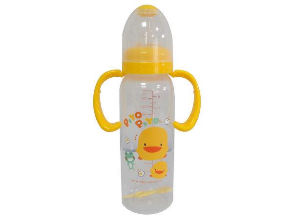 德芳保健藥妝:黃色小鴨PP學習型握把奶瓶240ml【德芳保健藥妝】