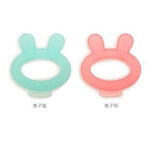 西班牙Suavinex兔子固齒器-附收納盒(藍粉)★衛立兒生活館★