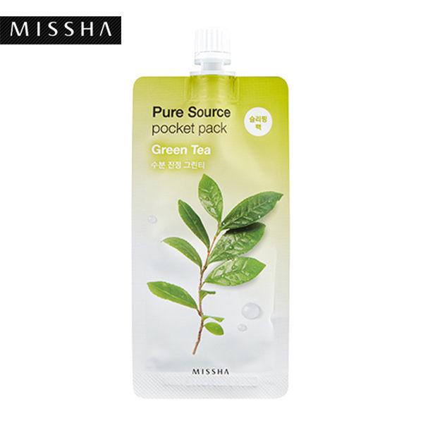 韓國MISSHA純萃天然口袋面膜-綠茶(10ml)【庫奇小舖】