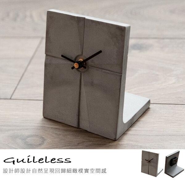 完美主義居家生活館:文具用品時鐘【Z0008】親水泥L型桌上時鐘MIT台灣製完美主義