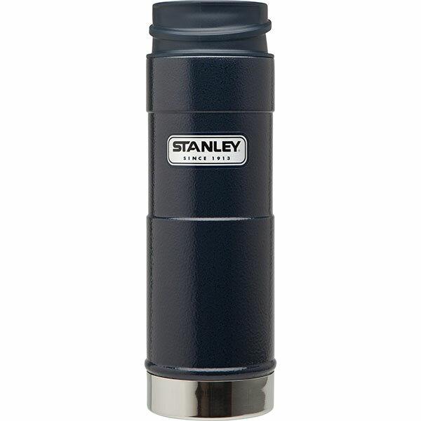 ├登山樂┤ 美國 Stanley 經典系列 單手保溫咖啡杯 0.35L-錘紋藍 # 10-01569-BL 0