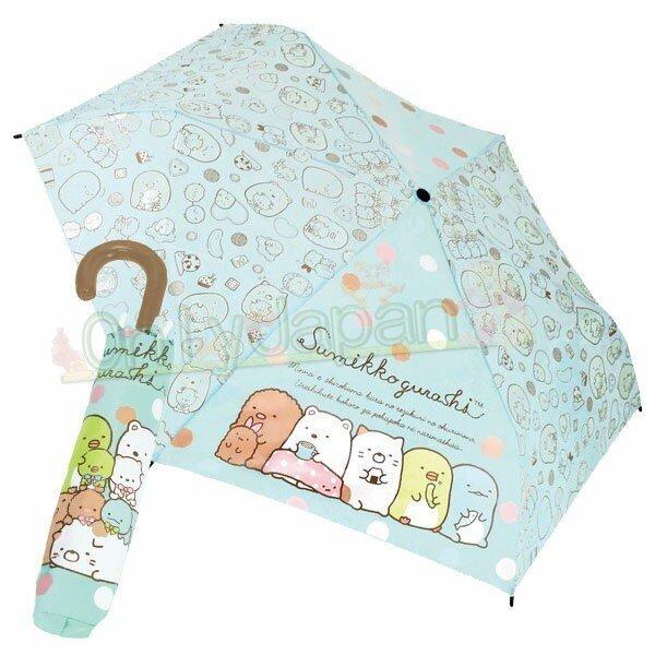 【真愛日本】4580433078044 J形手把雨傘53cm-角落baby 角落生物 角落公仔 貓咪恐龍白熊 傘 伸縮傘 彎把傘 摺傘 雨傘 方便攜帶 0