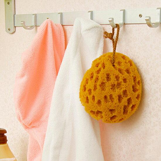 ?MY COLOR?珊瑚蜂天然原色海綿 去汙 洗碗 洗臉 沐浴 蜂窩 吸水 懸掛 晾乾 廚房【N151】