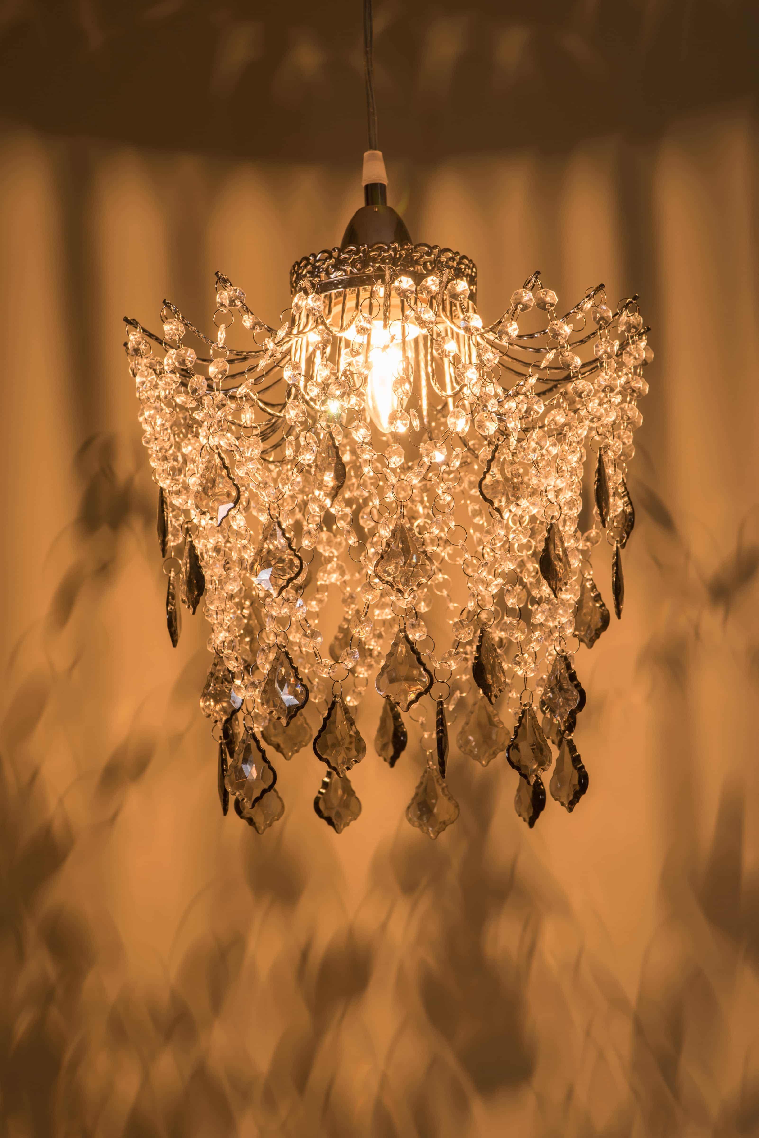 鍍鉻黑灰壓克力珠吊燈-BNL00045 2