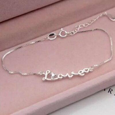 925純銀手鍊鑲鑽手環~優雅氣質字母 生日情人節 女飾品73dp188~ ~~米蘭 ~