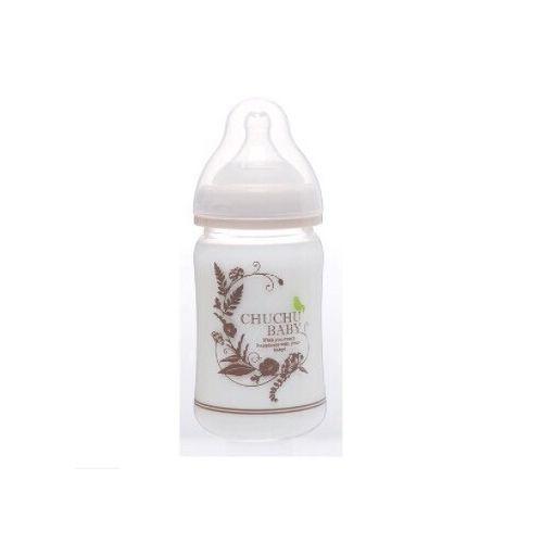 ★衛立兒生活館★CHU CHU 日製玻璃彩色寬口小奶瓶【160ml】