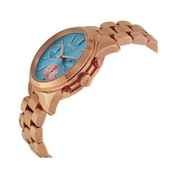 美國 Outlet 美國正品代購 Michael Kors MK 不鏽鋼 藍面 玫瑰金錶帶 三環計時日曆手錶腕錶 MK6164【輸入:coupon03 現折50】 4