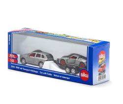 (卡司 正版現貨) 德國小汽車 SIKU 跑車拖車組 SU2544 兒童禮物 模型車 玩具車