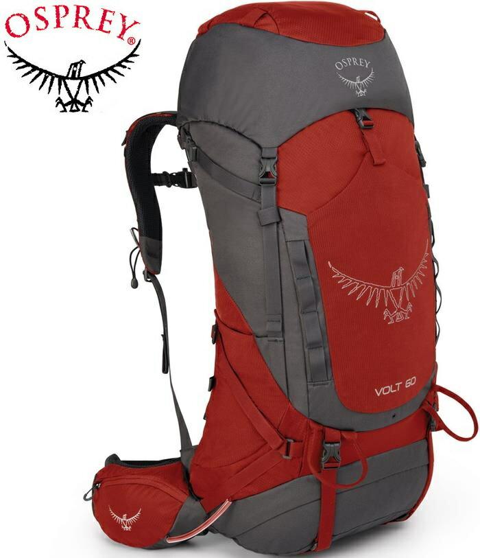 Osprey Volt 60 登山背包/健行背包/大背包 男款 磚紅/台北山水