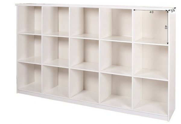 【石川家居】923-06白色十五格置物櫃(CT-811)#訂製預購款式#環保塑鋼P無毒防霉易清潔