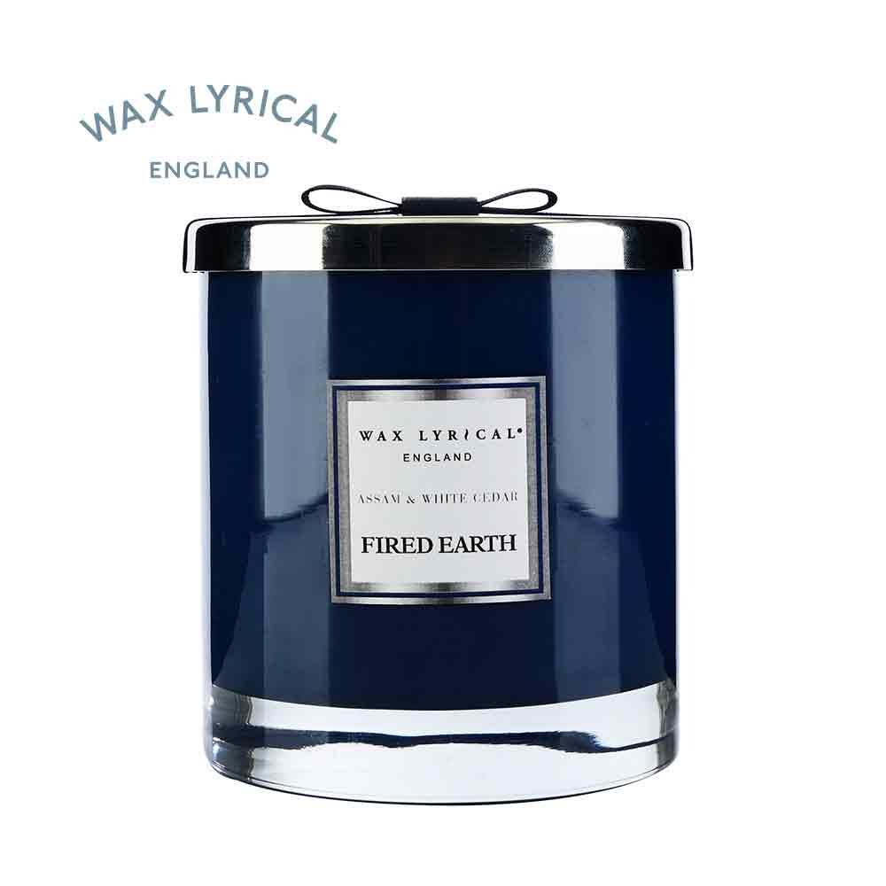 英國Wax Lyrical (FE) 玻璃雙蕊附蓋蠟燭-阿薩姆與雪松(可燃60小時)