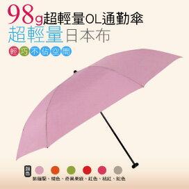 【momi宅便舖】98G超輕量通勤傘(紫羅蘭) / 抗UV /MIT洋傘/ 防曬傘 /雨傘 / 折傘 / 戶外用品