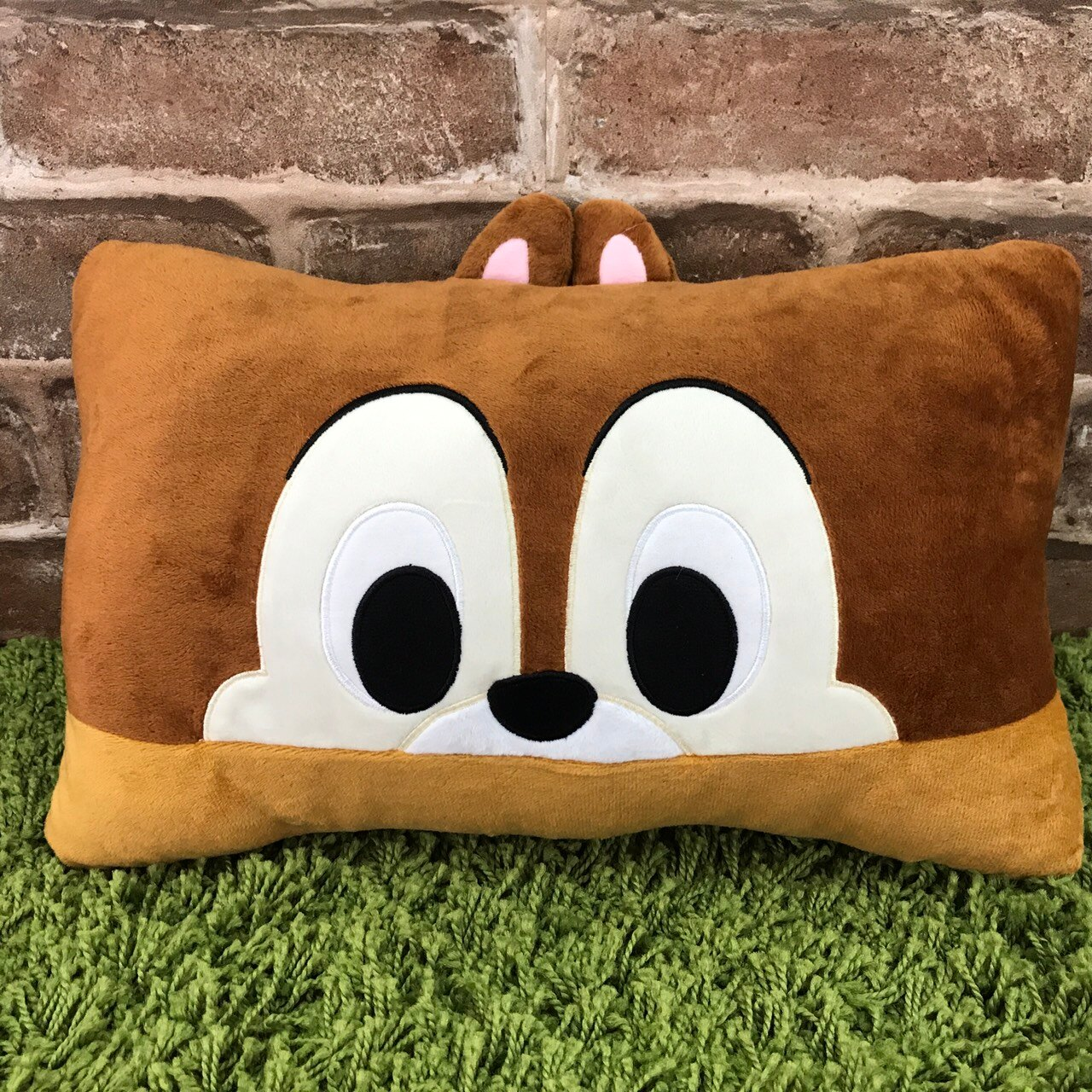 【真愛日本】17090100002 迷你大臉長方枕-奇奇 迪士尼 奇奇蒂蒂 花栗鼠 松鼠 小枕頭 抱枕 靠墊