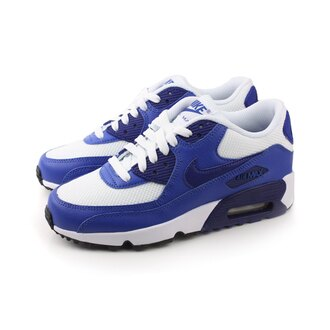 NIKE AIR MAX 90 MESH 運動鞋 童鞋 白藍色 大童 no406
