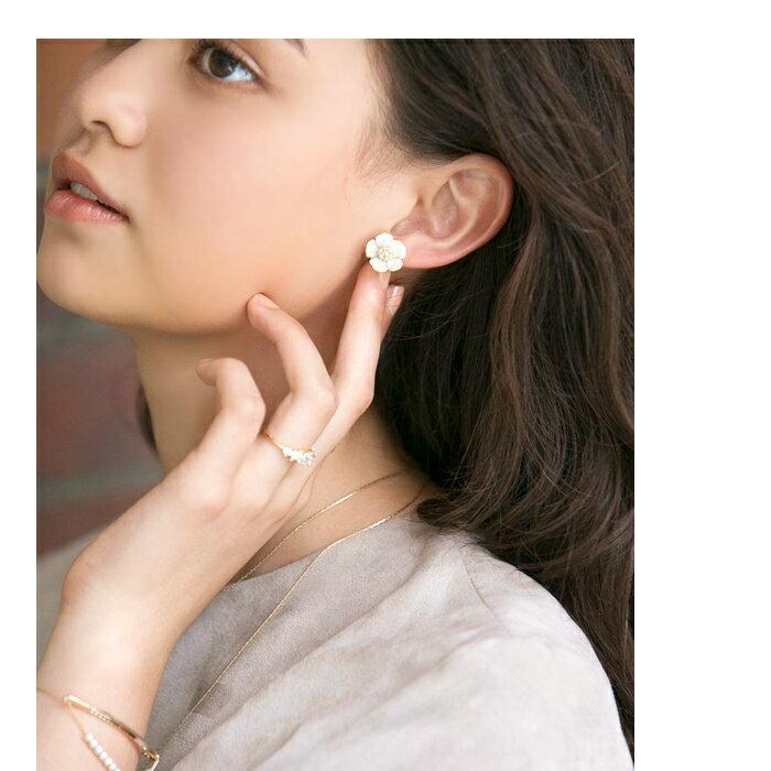 日本CREAM DOT  /  典雅花樣耳環  /  qc0023  /  日本必買 日本樂天直送(990) 8