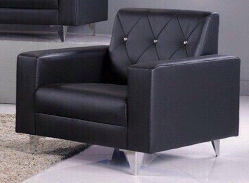 !!新生活家具!! 黑色 水鑽 皮沙發 單人椅《摩洛哥》工廠直營.臺灣製造 非 H&D ikea 宜家