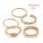 日本CREAM DOT  /  5点セットリング 指輪 金属アレルギー ニッケルフリー レディース セットリング 重ねづけ 重ね付け 10号 13号 ファッションリング 大人カジュアル シンプル 可愛い ゴールド シルバー  /  qc0470  /  日本必買 日本樂天直送(1290) 0