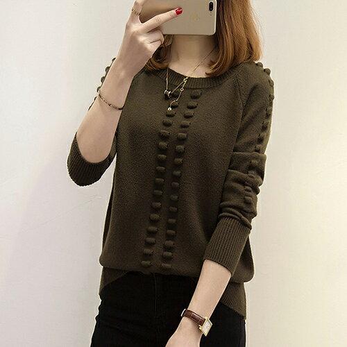 韓版針織衫寬鬆圓領套頭毛衣(5色F碼) 【OREAD】 3