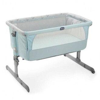 ★衛立兒生活館★Chicco Next2Me多功能移動舒適嬰兒床-湖水藍 贈蘇菲長頸鹿1隻