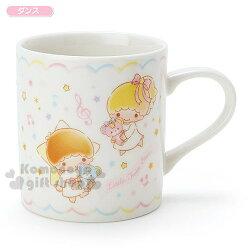 〔小禮堂〕雙子星 日製陶瓷杯《白.繽紛星星.音符.多動作》金正陶器