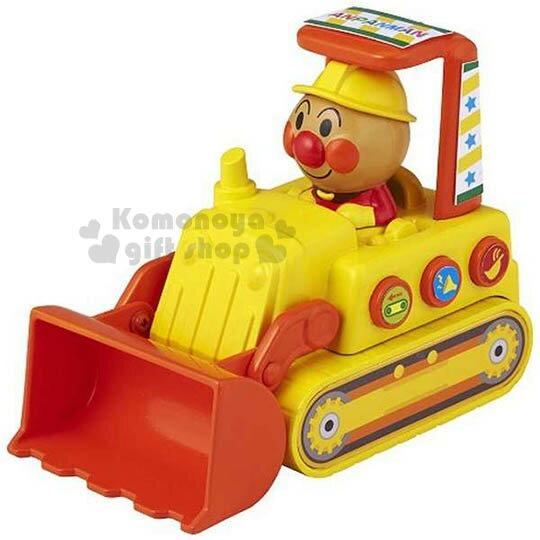 〔小禮堂嬰幼館〕麵包超人 堆土機玩具車《黃.坐姿》增添親子間的親密度