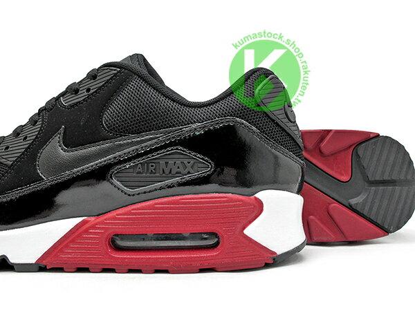 2016 最新 NSW 經典復刻鞋款 人氣商品 NIKE AIR MAX 90 ESSENTIAL 黑紅 黑紅白 網布 牛巴戈 亮皮 慢跑鞋 (537384-066) 0117 3