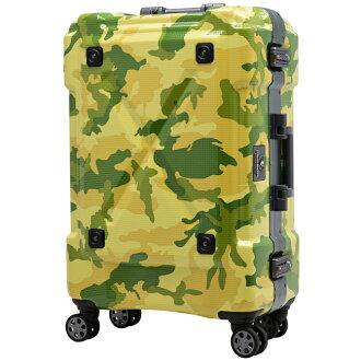 日本 LEGEND WALKER 6302-62-26吋 鋁框密碼鎖輕量行李箱 軍迷彩