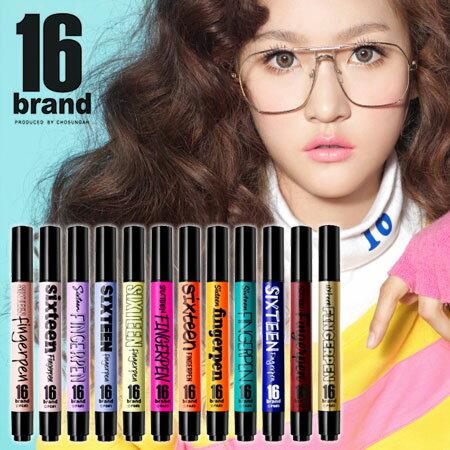 韓國 16 brand FINGERPEN 一筆搞定 FS眼影x唇彩系列 5ml 氣墊筆 氣墊手指筆 唇彩 腮紅 眼影 珠光【B061930】