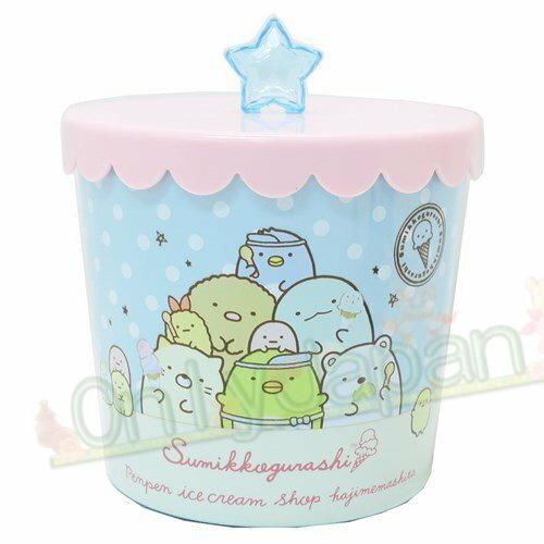 【真愛 】19012300006 小物收納罐-SG點點藍 角落公仔 貓咪恐龍白熊炸豬排 飾品盒 收納盒 收納罐 置物罐
