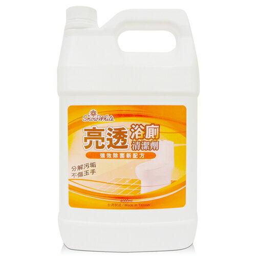 【白雪 snow white 浴廁清潔劑】亮透浴廁清潔劑 4000ml (4桶/箱)