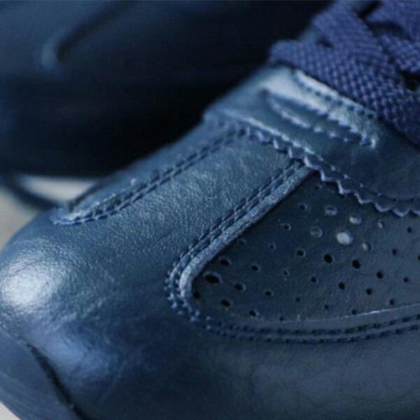 《限時特價799元》 Shoestw【63W1SO68DB】PONY 復古慢跑鞋 休閒鞋 皮革 洞洞 深藍色 女款 2