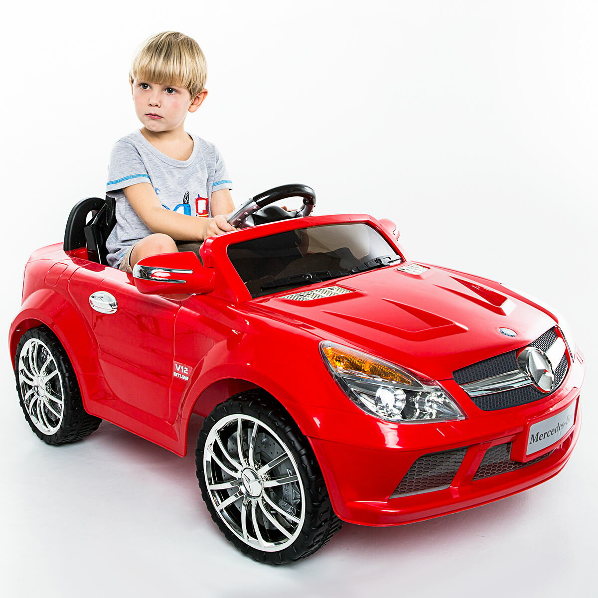 Electric Kids Cars >> Costway 12v Mercedes Benz Sl65 Electric Kids Ride On Car Music Rc Remote Control Red