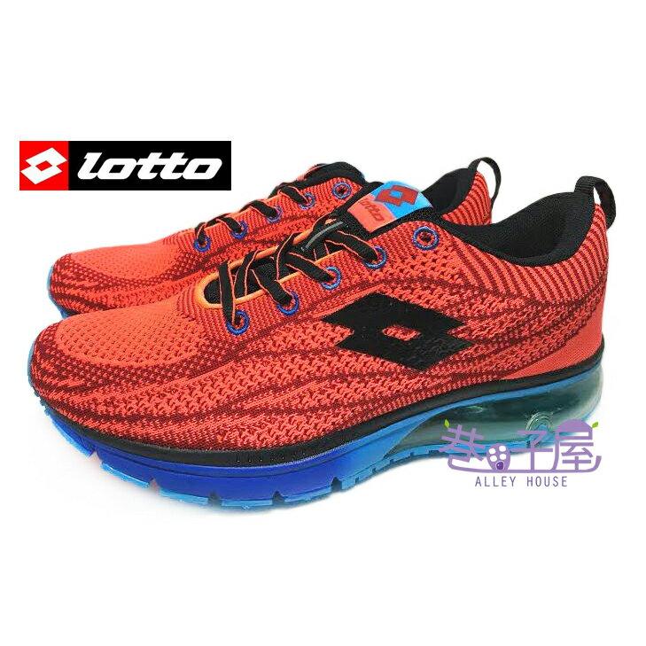 ~巷子屋~義大利第一品牌~LOTTO 男款WAVEKNIT編織氣墊慢跑鞋  2562  紅