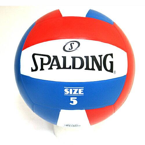 【SPALDING斯伯丁】橡膠排球5號排球SPBV5001紅白藍[陽光樂活]