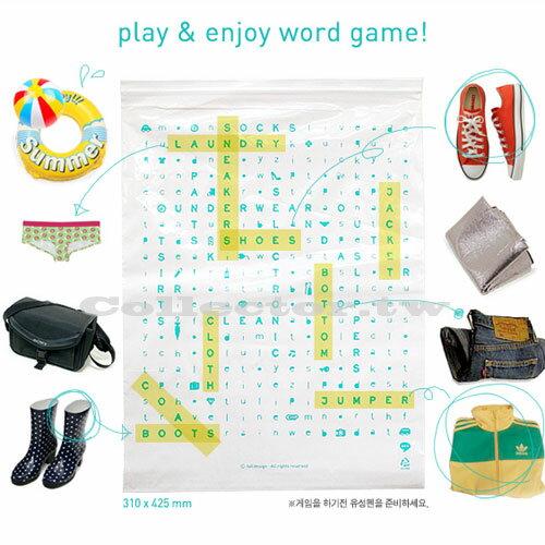【G14092201】韓版-字母收納夾鏈袋(大號5枚入) DIY物品名 出差旅行必備