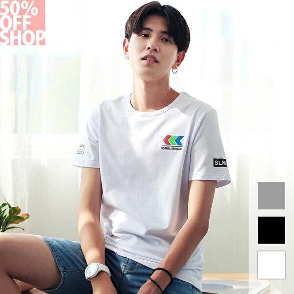 50%OFFSHOP原創設計t恤純棉個性變色印花短袖t恤(3色)(M-2XL)【BA035102C】