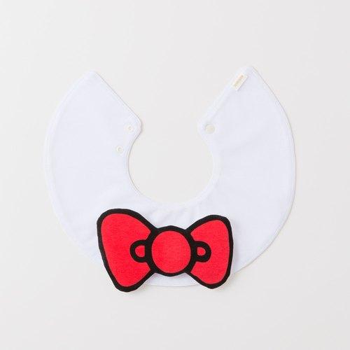 日本【MARLMARL】Hello Kitty 聯名款 大蝴蝶結圍兜(Hello Kitty)