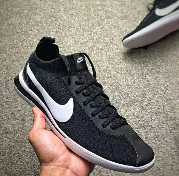 NikeCortezFlyknit阿甘二代黑白情侶款