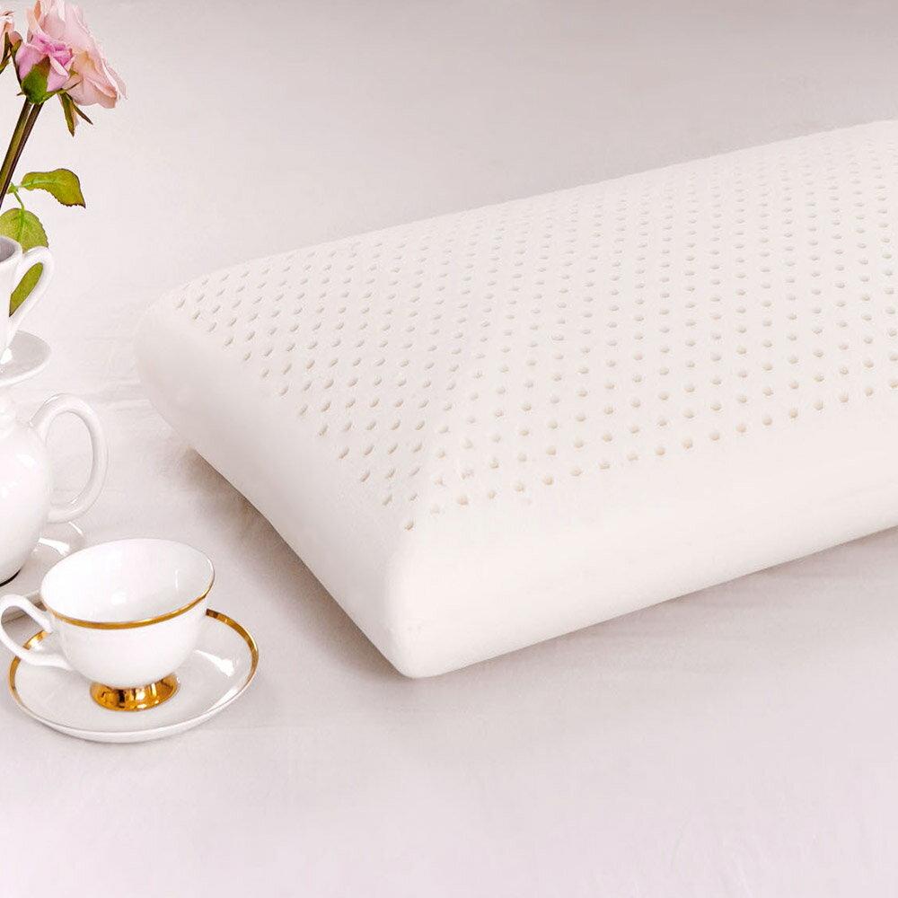 鴻宇 防蟎抗菌加大型乳膠枕1入 SGS檢驗無毒 美國棉授權品牌 台灣製 2