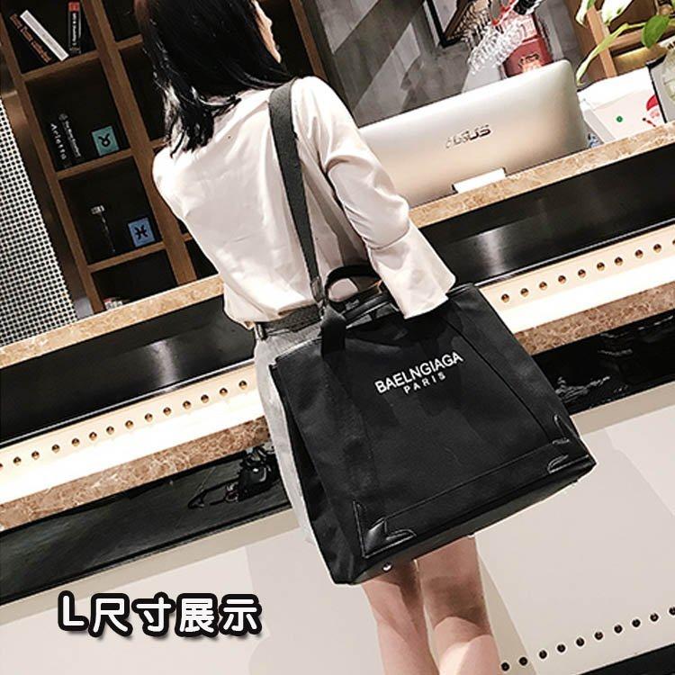 帆布包-大包包新款歐美明星同款帆布包單肩包斜背包側背包大容量手提包 6