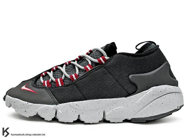 2017 重出江湖 藤原浩 最愛鞋款 NIKE AIR FOOTSCAPE NM 黑灰紅 OG 色 側綁 NATURAL MOTION 舒適輕量中底 (852629-001) 0117P