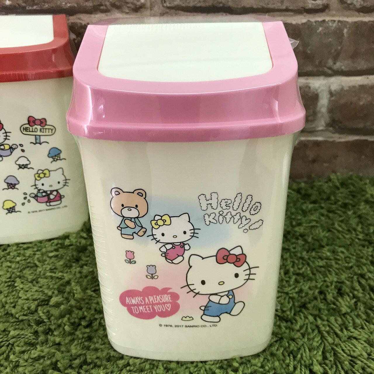 【真愛日本】17110600028 迷你旋轉蓋方型垃圾桶-朋友new 三麗鷗 Hello Kitty凱蒂貓 日用品居家收納用品