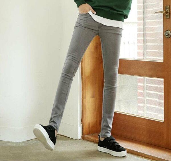 FINDSENSEZ1韓國時尚潮男基本款簡約修身彈力灰色系小腳褲九分褲牛仔褲