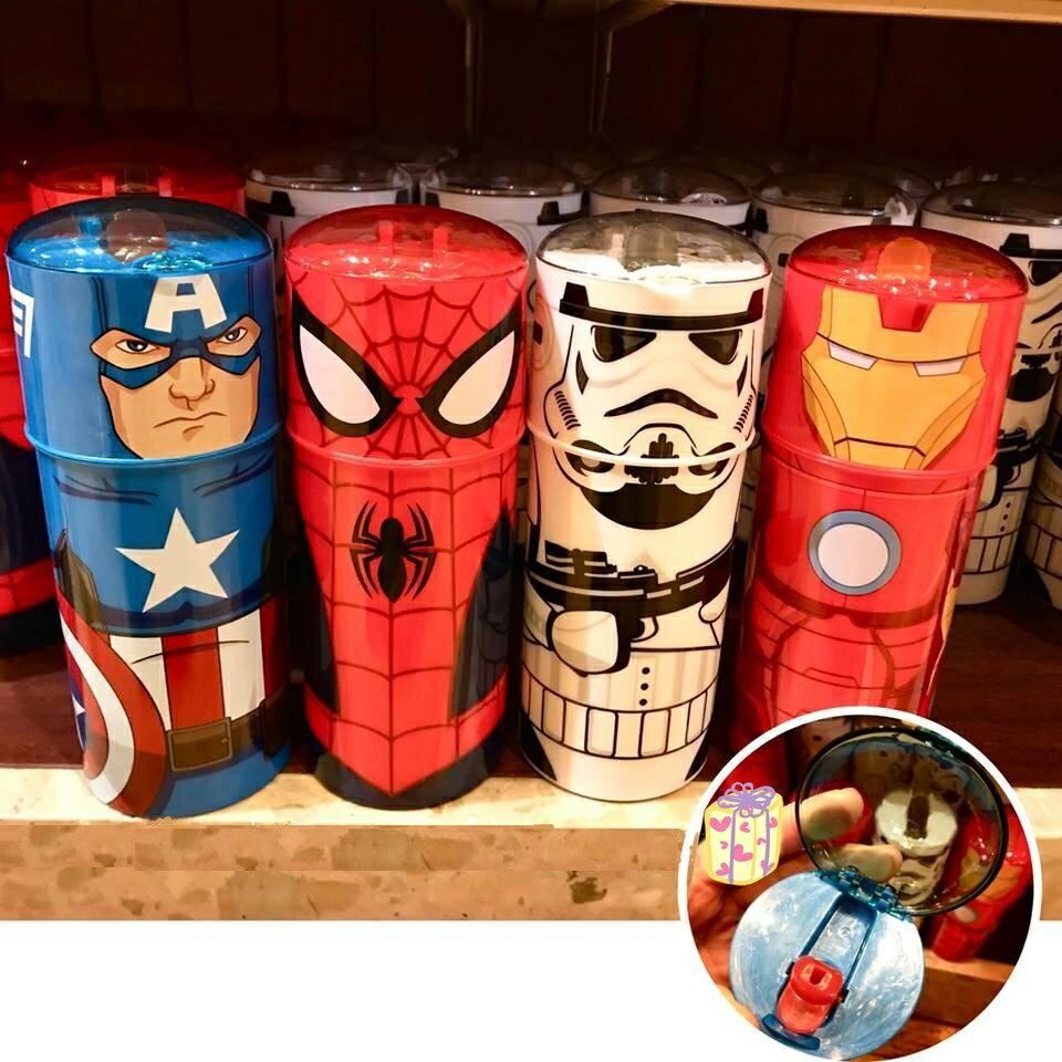 X射線【C322003】香港迪士尼樂園代購-蜘蛛人Spider-Man按壓吸管水壺,水杯/馬克杯/杯瓶/水壺/不鏽鋼杯