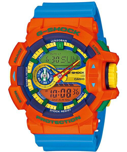 國外代購 CASIO G-SHOCK GA-400-4A 雙顯 大錶面 運動防水手錶腕錶電子錶男女錶 橘樂高