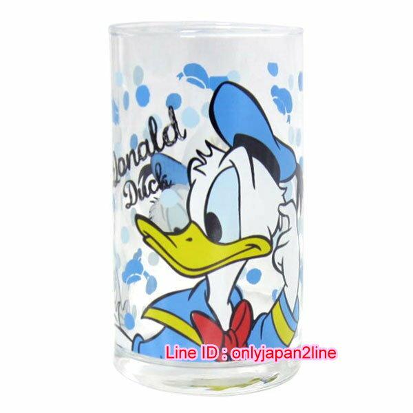 【真愛日本】16112300005日本製玻璃杯250ML-唐老鴨藍點點   迪士尼  Donald Duck  唐老鴨  馬克杯 杯子 水杯